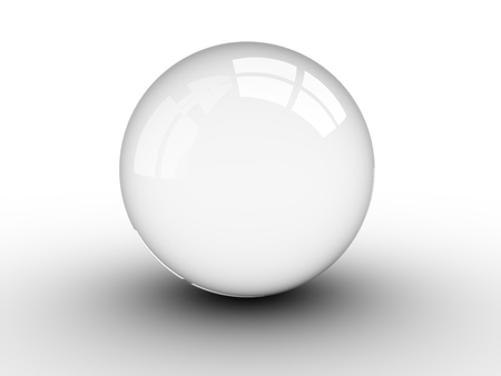 3d render illustration of a crystal ball over white Stock Illustration - 14799983