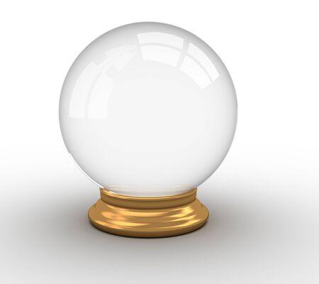 3d render illustration of a crystal ball over white Stock Illustration - 14800063