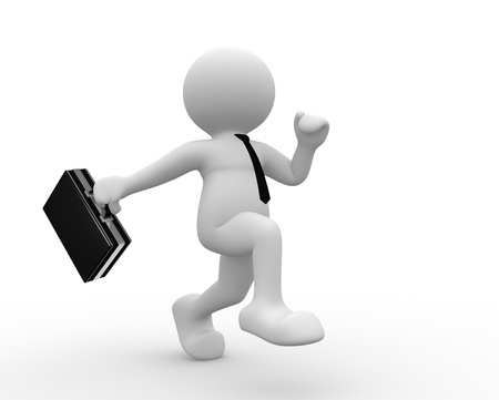3d people - human character with a briefcase. 3d render illustration  illustration