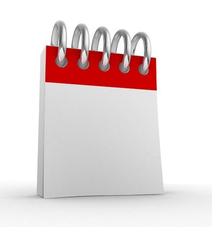 calendrier jour: Calendrier vierge. C'est une illustration de rendu 3d Banque d'images