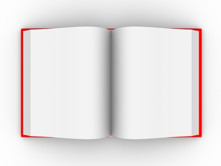 chapter: Open book . This is a 3d render illustration