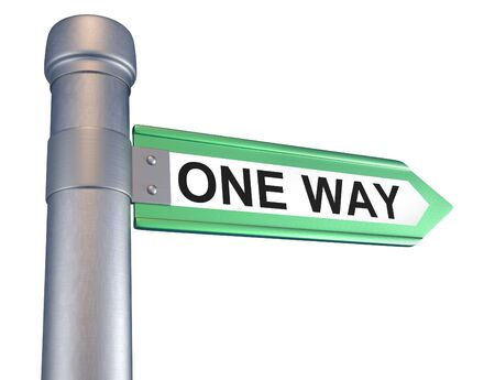 one way: One way . Conceptual. 3d render Stock Photo