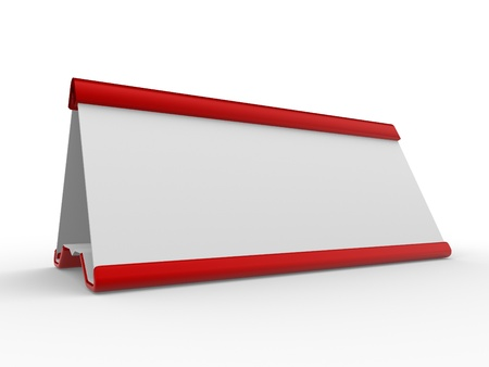 name plate: Blank nameplate on a white background. 3d render illustration