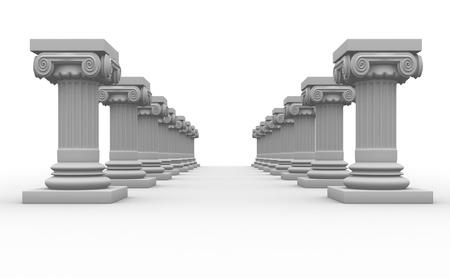 columnas romanas: Columnas romanas de render 3d