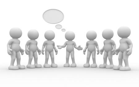 3d mensen-menselijk karakter, groep van persoon Leiderschap en team - Dit is een 3d render illustratie