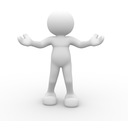 3d people - human character, person inviting. Welcome. 3d render Stock Photo - 14800054
