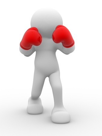 3d people - man, person , boxer. Stock Photo - 14814923