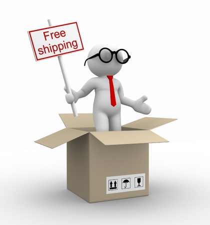 3d people - man, person free shipping in the package.  photo