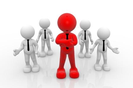 follow the leader: 3d mensen-mensen, persoon. Leiderschap en team Stockfoto