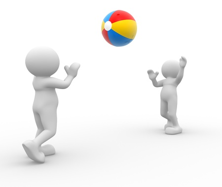 stockie: 3d people - man, person with a beach ball.