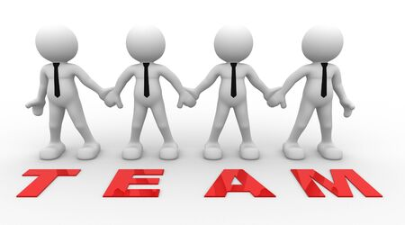 3d people - men, person together and word Team . Businessman.  photo