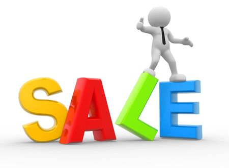 3d people - man, person and word Sale.  photo
