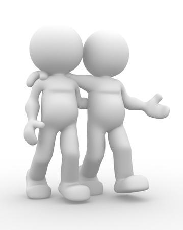 personas escuchando: 3d personas - hombres, persona. El concepto de la amistad