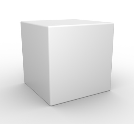 3d white cube Stock Photo - 14868558