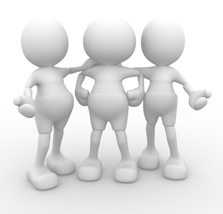 3d people - men, person talking. Concept of dialogue, communication Stock Photo - 14868998