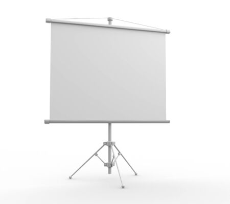 flip chart: A blank board over white