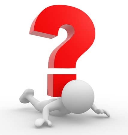 3d people - man, person with  a question mark Stock Photo - 14949805