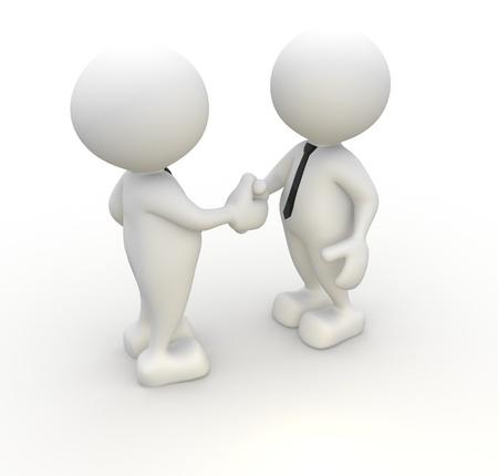 partners: 3d people - men, person with tie. Handshake. Businessman