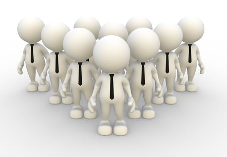 3d people - men, person in group  Leadership and team Stock Photo - 14967106