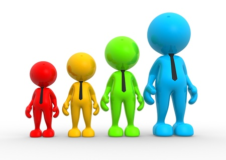 3d people - men, person in group. Growth  concept. photo