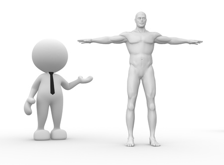 3d human: 3d people - man, person with a human body