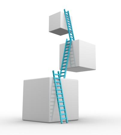 escaleras: Cubos con escaleras. Avances concepto. 3d render