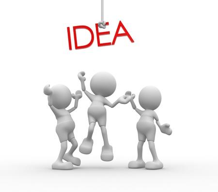 """formations: 3d mensen - mannen, zijn persoon strijden voor een woord """"idee"""""""
