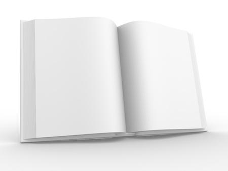 chapter: Open book. 3d render