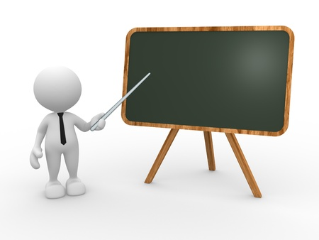 3d people - man, person and backboard. Teacher. photo