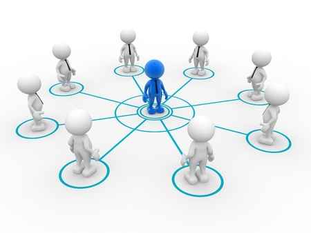 arranged: 3d people - man, person arranged in a circle  Leadership and team