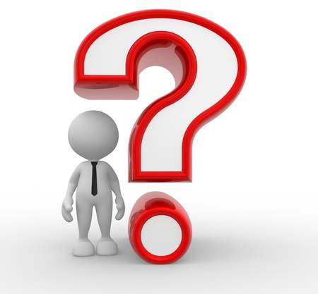 3d people - man, person and a question mark Stock Photo - 15519454