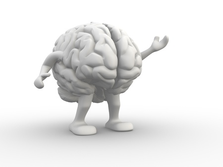 Brain. This is a 3d render illustration  illustration