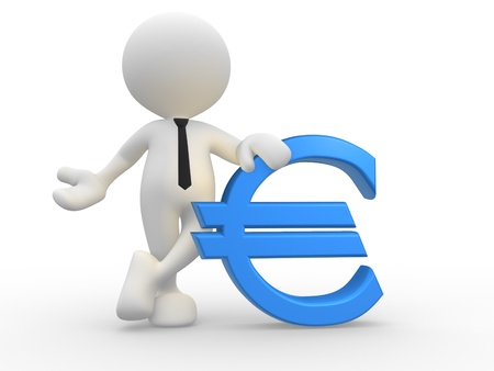 3d people - man, person with euro icon. Stock Photo - 15588171