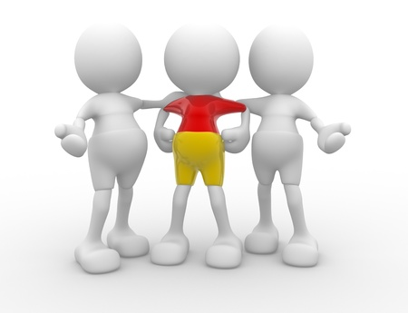 3d people - men, person talking. Concept of dialogue, communication Stock Photo - 15961665