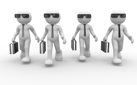 3d people - men, person with briefcase and sunglasses Stock Photo - 15961639