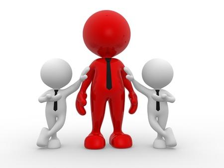 together concept: 3d personas - hombres, personas juntas. Concepto de di�logo, la comunicaci�n