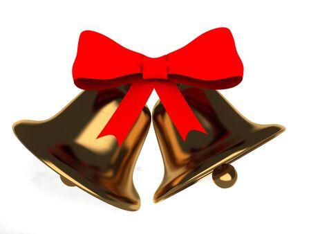 jingle bell: 3d christmas bell . 3d render illustration Stock Photo