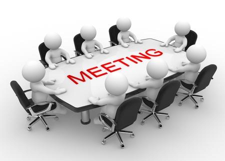 3d personnes - hommes, personne à la réunion d'affaires conférence de la table