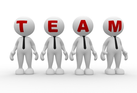 little business man: 3d people - men, person in group  Team Stock Photo