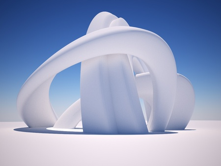 3d Abstract Architecture. 3d render illustration