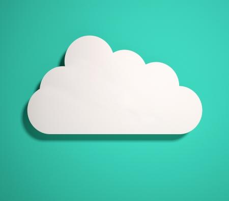 3d cloud icon  3d render Stock Photo - 16850566