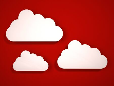 3d cloud icons  3d render  Stock Photo - 16850550