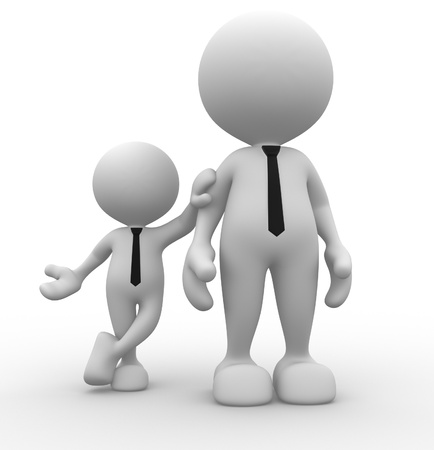 3d people - men, person together. Businessman photo