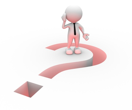 3d people - man, person and question mark Stock Photo - 16897064