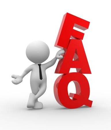 chiesto: Persone 3d - uomo, persona con la parola FAQ. Domande frequenti