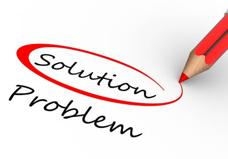 complete solution: Choosing between solution and problem. 3d render