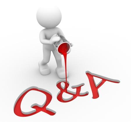 whose: 3d gente - hombre, persona con un balde de pintura. Q & A (preguntas y respuestas)