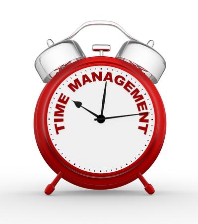 gestion del tiempo: 3D en tiempo a la gestión. Concepto primer reloj. 3d render