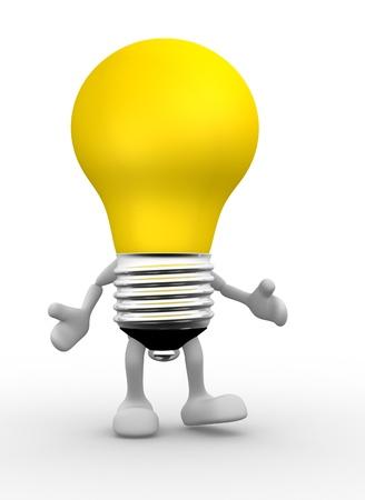3d: 3d lightbulb. 3d render Stock Photo