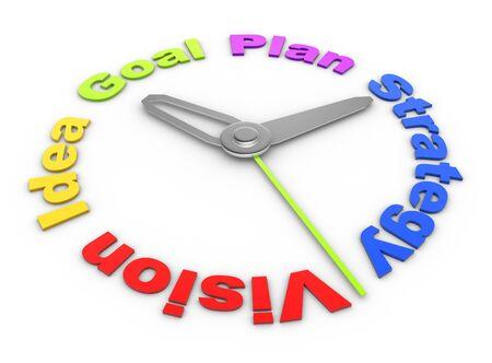 3d Concept of a deadline: vision, idea, plan, goal, strategy. 3d render Stock Photo - 17148415